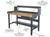 HEAVY-DUTY ADJUSTABLE LEG WORKBENCHES